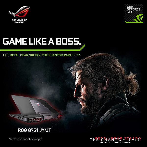 ASUS Republic of Gamers Announces Metal Gear Solid V : The Phantom Pain Laptop Bundles