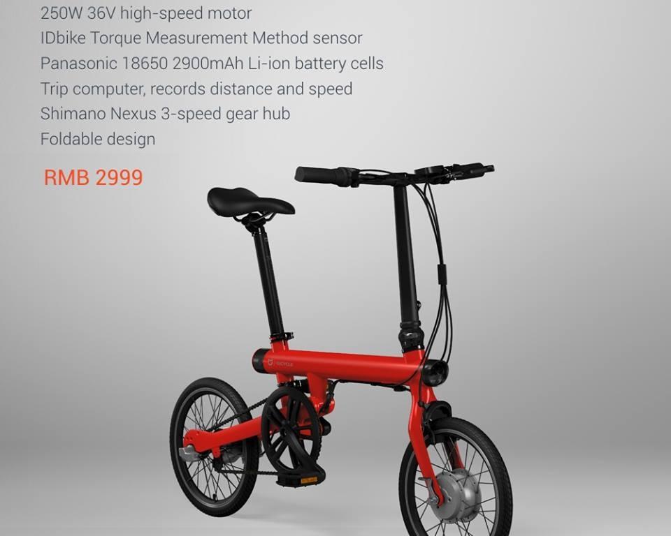 Introducing Mi Qicycle Electric Folding Bike Malaysia It Fair