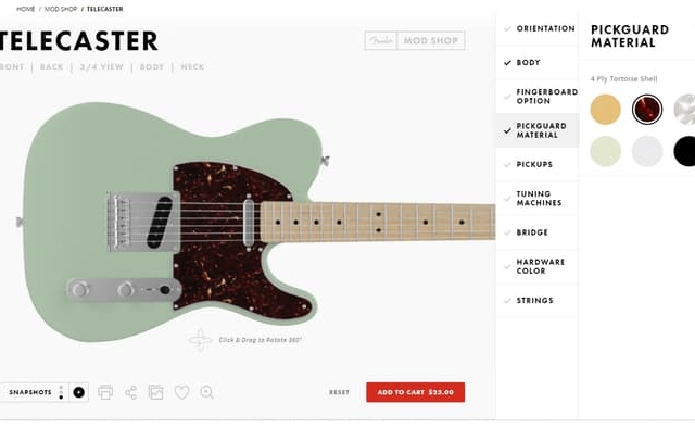 Your Custom Fender Guitar Is Now Just A Few Clicks Away Malaysia