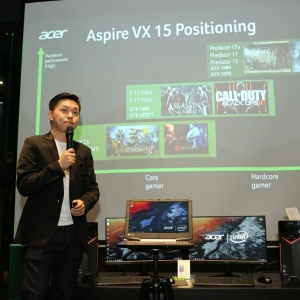 Photo 2 Acer Malaysia Product Manager, Jeffrey Lai introducing the new Acer Aspire VX 15