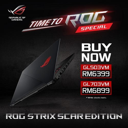 Price Reduction for ROG GL and ASUS FX series