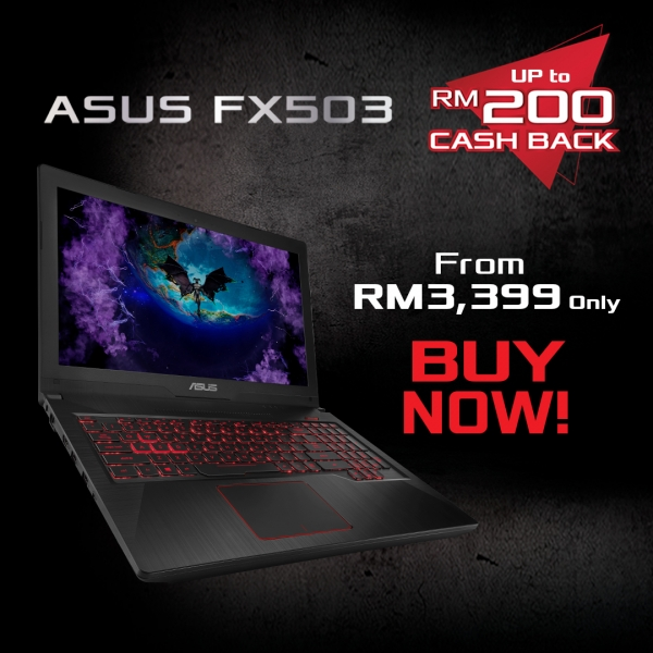 RM200 CashBack - ASUS FX series