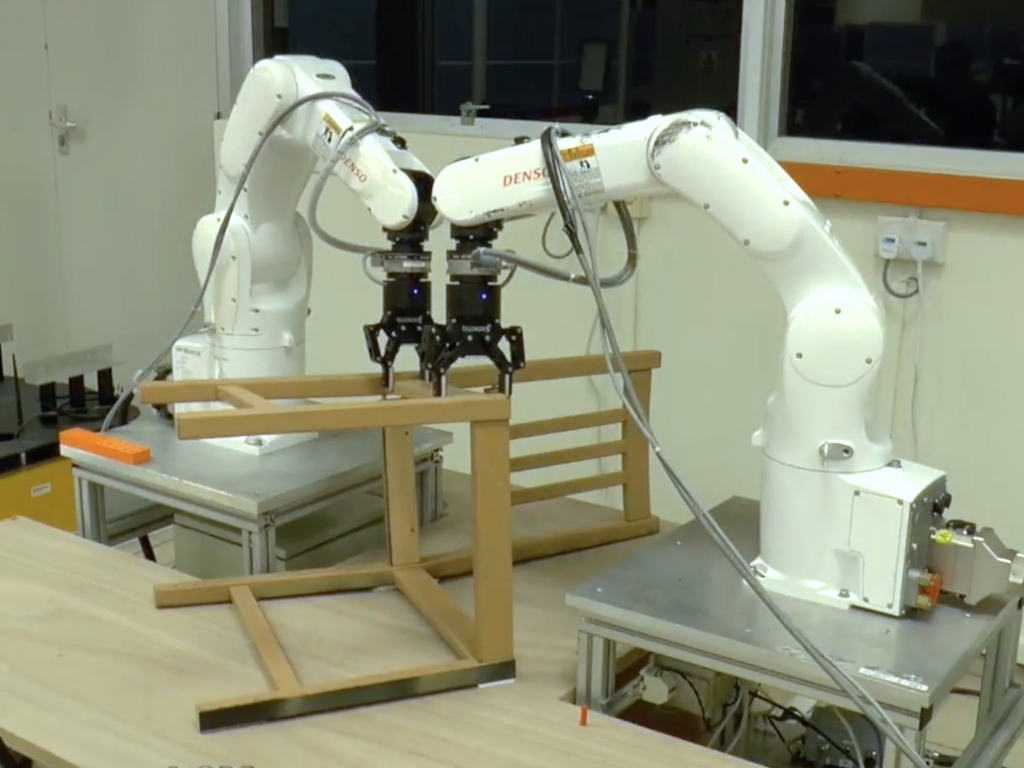 A robot by NTU Singapore builds an IKEA furniture