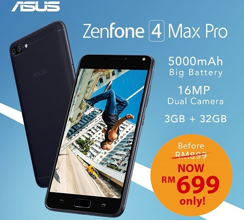Price Drop ZenFone 4 Max Pro - Official