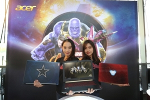 WEE_4032 Models with the three new Acer Avengers Infinity War Special Edition Laptops