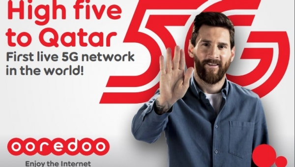 First live 5G network in the world (PRNewsfoto/Ooredoo)