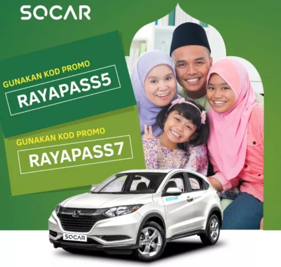 Balik kampung this Raya season with a SOCAR and enjoy 48 hours off!