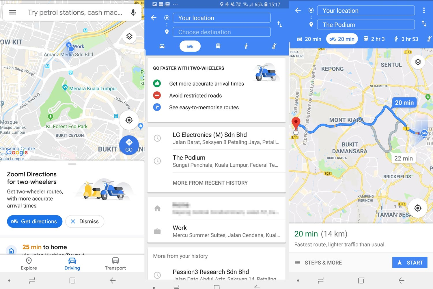 Motorcycle Mode For Google Maps Now In Malaysia! - Malaysia IT Fair