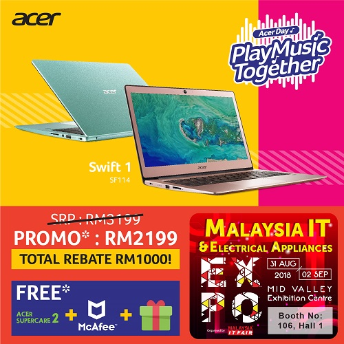 ACER@Malaysia IT & Electrical Appliances EXPO 31 AUG-2 SEPT 2018