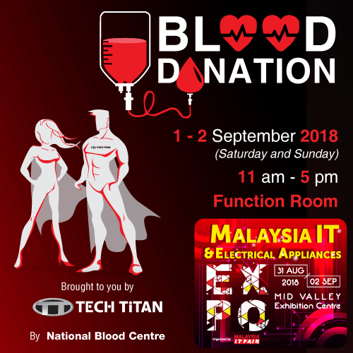 BLOOD DONATION@MALAYSIA IT & ELECTRICAL APPLIANCES EXPO 31 AUG-2 SEPT 2018