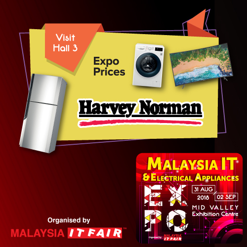 HARVEY NORMAN@Malaysia IT & Electrical Appliances EXPO 31 AUG-2 SEPT 2018