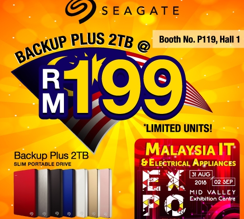 SEAGATE@Malaysia IT & Electrical Appliances EXPO 31 AUG-2 SEPT 2018