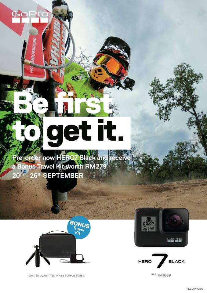 pre-order for go pro u0026 39 s hero 7 black is available in malaysia - rm1 869