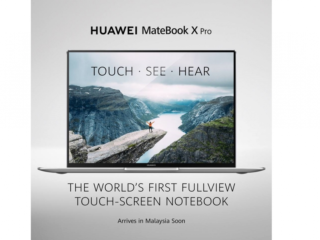 Huawei is now introducing their new Notebook – Matebook X Pro