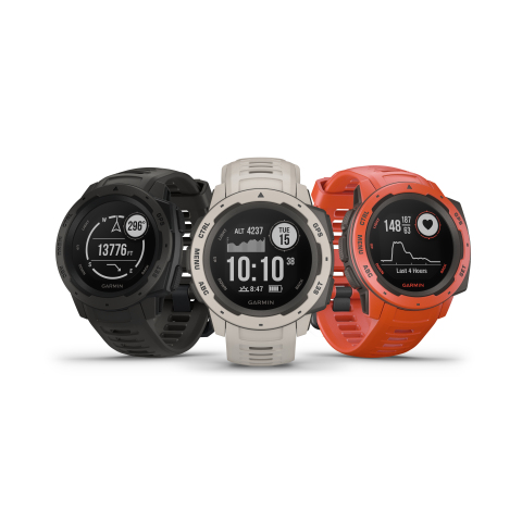 Garmin® Instinct®: A new designed GPS watch for the outdoors