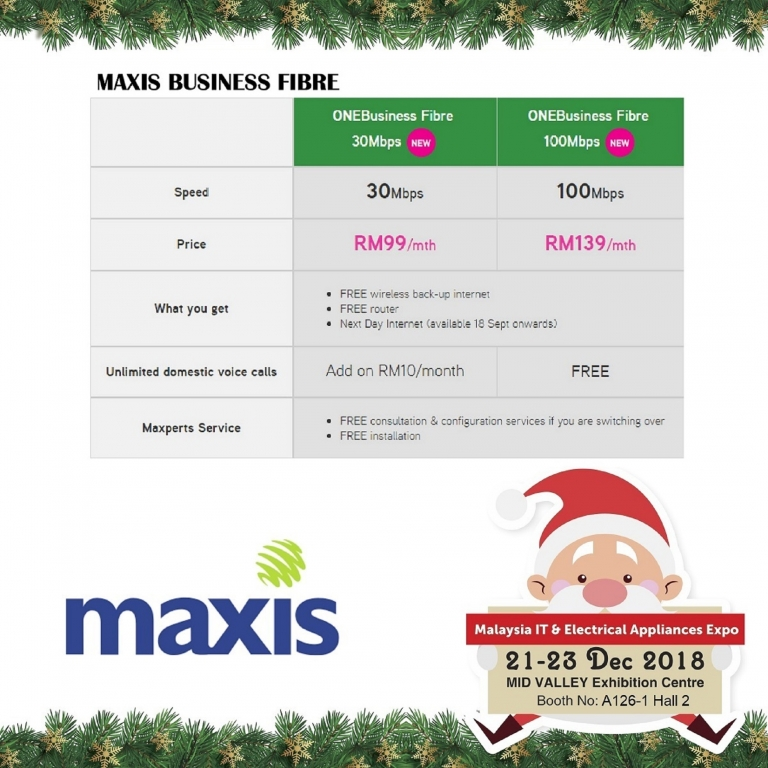 MAXIS PROMOTIONS @ MALAYSIA IT & ELECTRICAL APPLIANCES EXPO II KL
