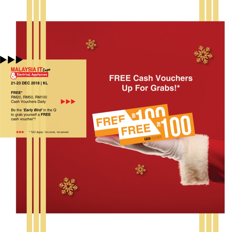 FREE CASH VOUCHERS @ MALAYSIA IT & ELECTRICAL APPLIANCES EXPO II KL