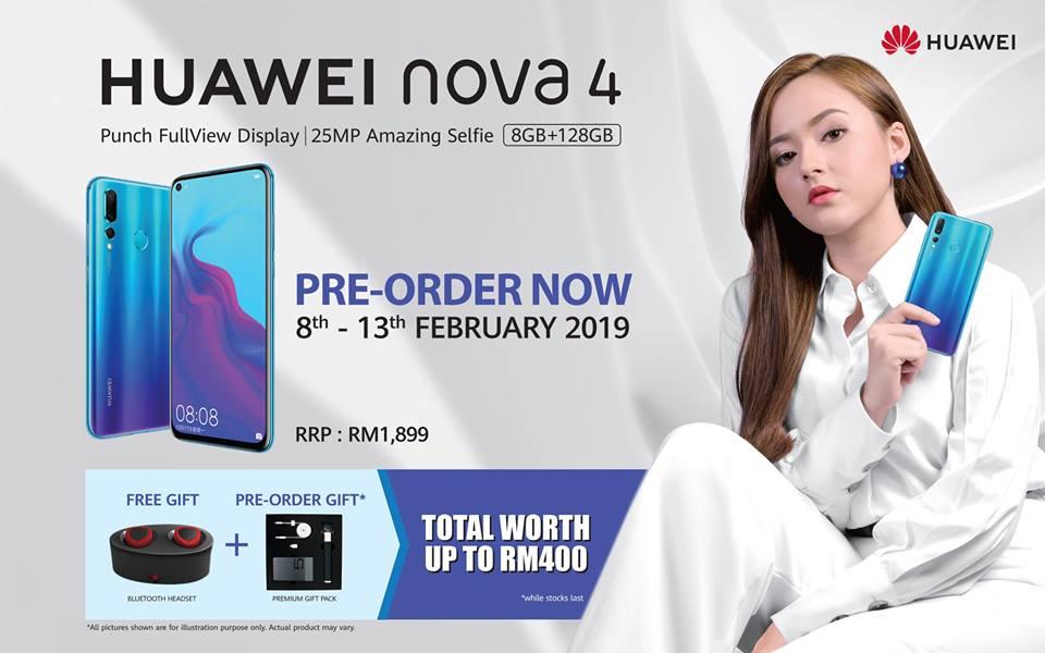 preorder huawei nova 4 1