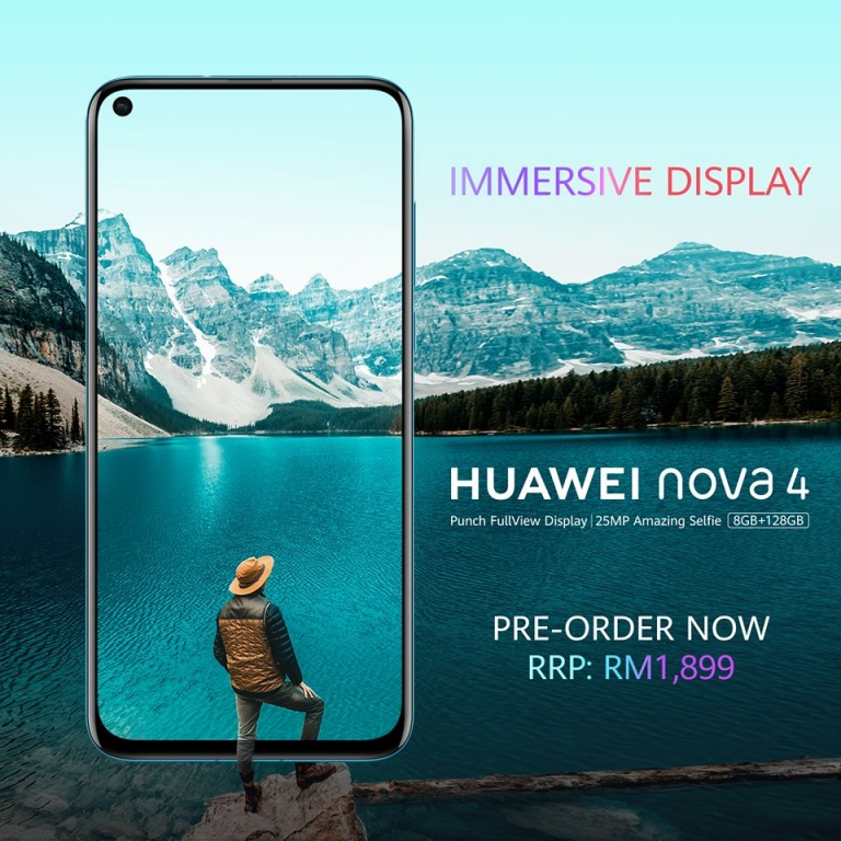 Huawei Nova 4 is available for pre-order now at RM1,899!