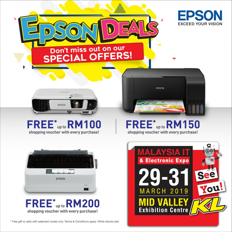 EPSON PROMOTIONS @ MALAYSIA IT & ELECTRONIC EXPO KL