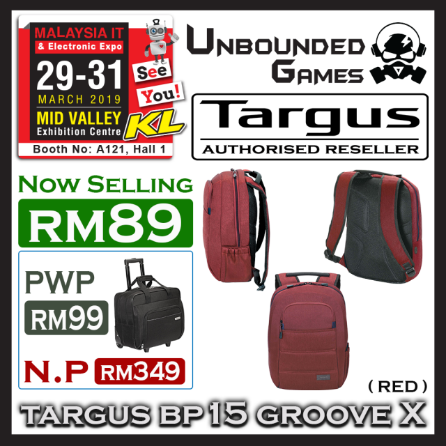 TARGUS BP15 GROOVE X (RED)(1)