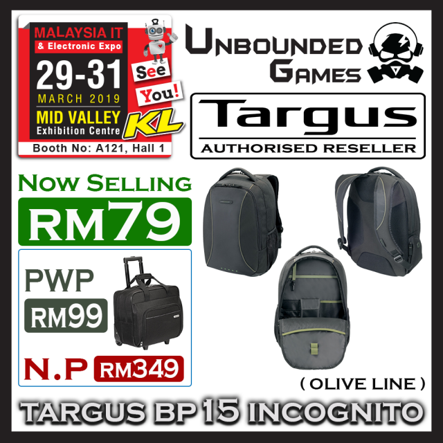 TARGUS BP15 INCOGNITO (OLIVE LINE)(1)