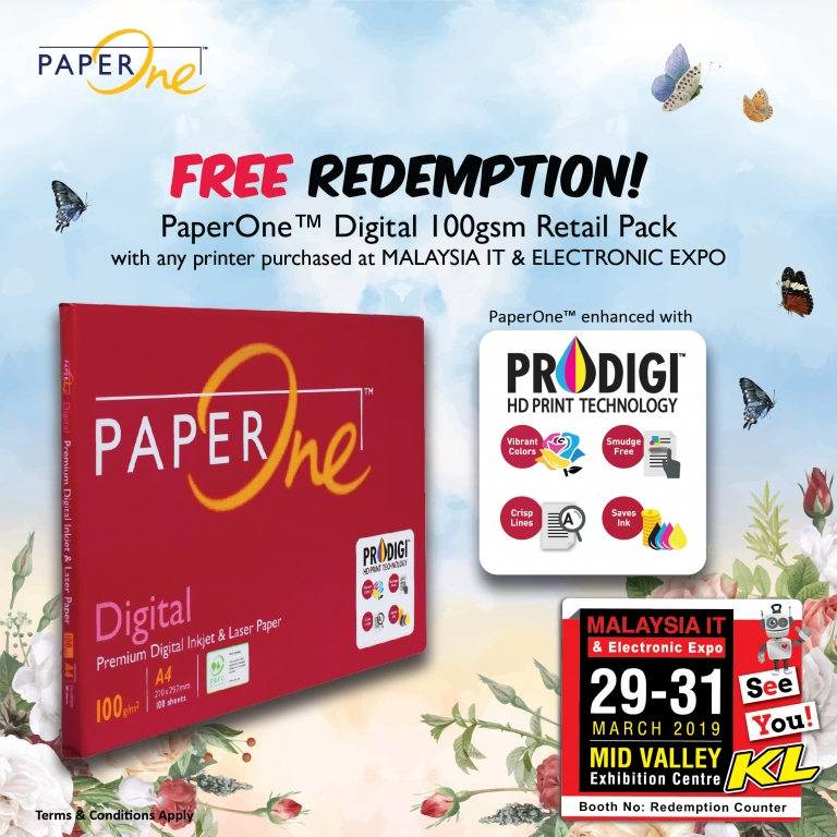 PAPERONE™ FREE REDEMPTION @ MALAYSIA IT & ELECTRONIC EXPO KL