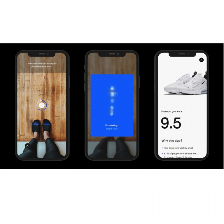Nike app – Nike Fit measure your feet & sell you the truly perfect fit Nike shoe