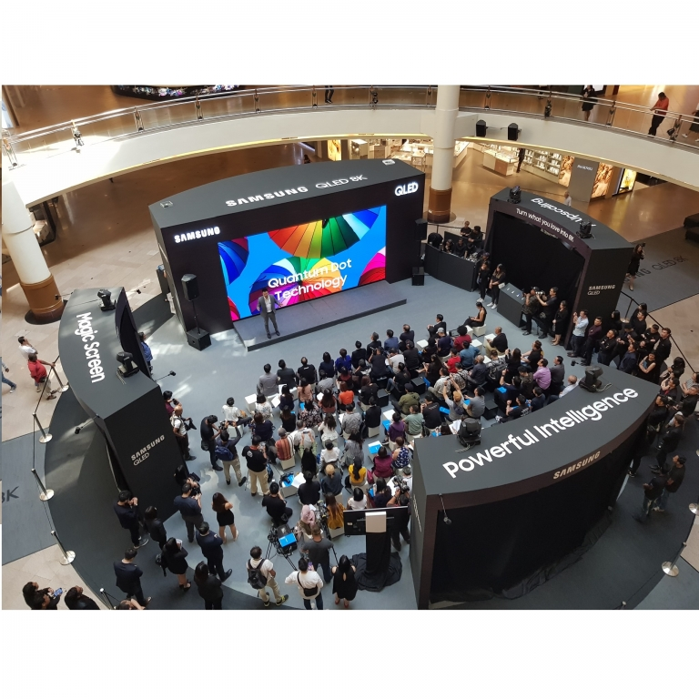 Samsung 8K QLED TV showcase – now at Mid Valley Megamall until 12 May 2019