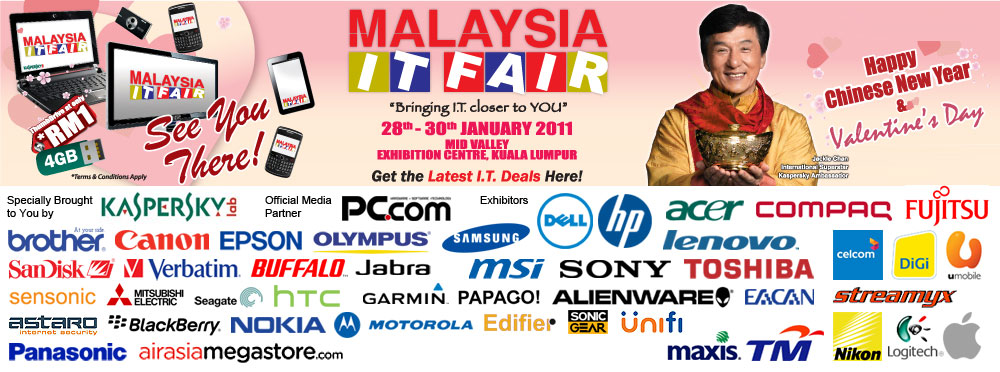 Malaysia IT Fair- Mid Valley 28-30 Jan 2011